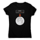 Moon location women's t-shirt - Make It Print