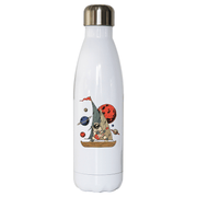 Pirate astronaut stainless steel water bottle - Make It Print