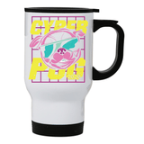 Cyber Pug stainless steel travel mug - Make It Print