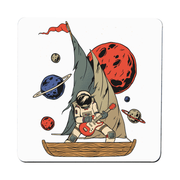 Pirate astronaut coaster - Make It Print