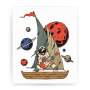 Pirate astronaut print - Make It Print