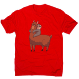 Llama sloth hugging men's t-shirt - Make It Print