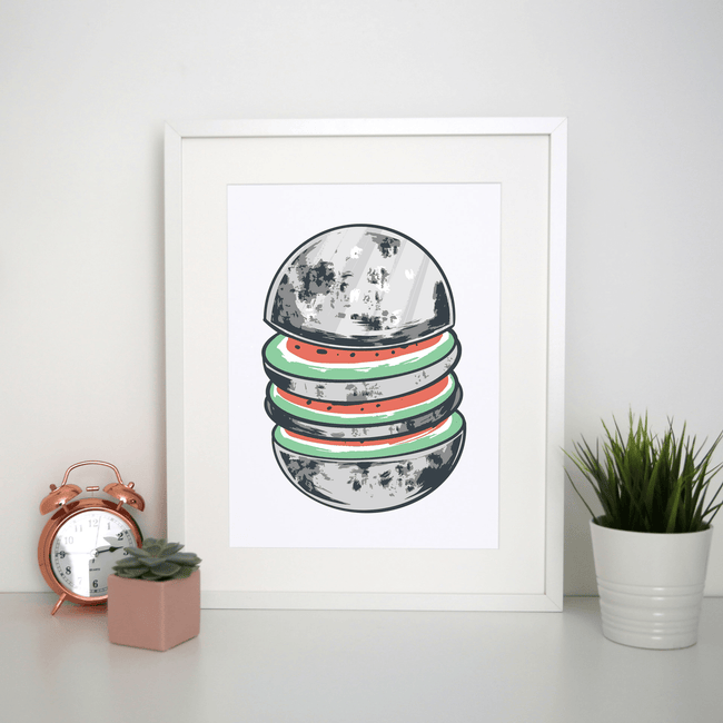 Watermelon moon print - Make It Print
