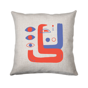 Abstract eyes cushion - Make It Print