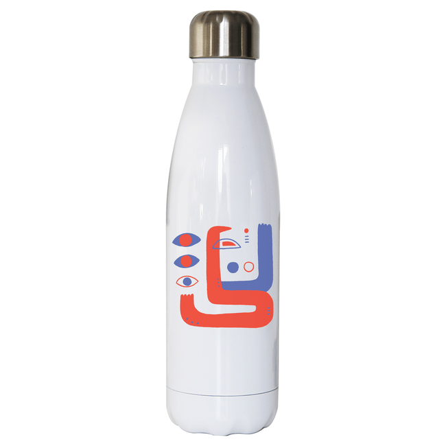 Abstract eyes stainless steel water bottle - Make It Print