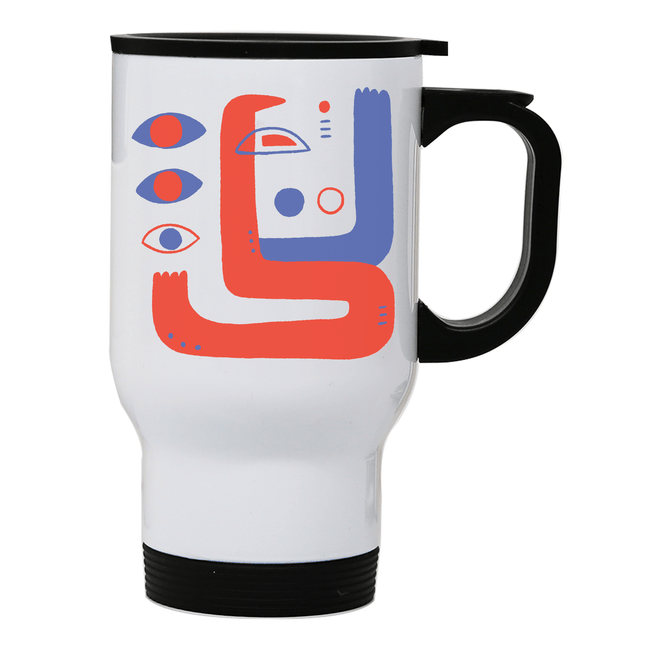 Abstract eyes stainless steel travel mug - Make It Print