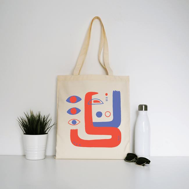 Abstract eyes tote bag - Make It Print