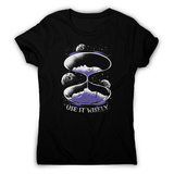 Space hourglass quote women's t-shirt - Make It Print