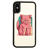 Grumpy pink cat iPhone case - Make It Print