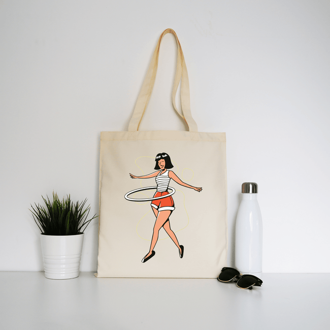 Girl hula hoop tote bag - Make It Print