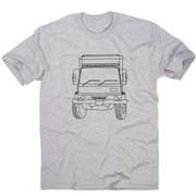 Penelope truck line print men's t-shirt - Make It Print - Penelope the Truck