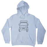 Penelope truck line print hoodie - Make It Print - Penelope the Truck