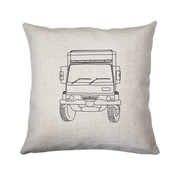 Penelope truck line print cushion - Make It Print - Penelope the Truck