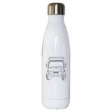 Penelope truck line print stainless steel water bottle - Make It Print - Penelope the Truck