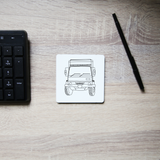 Penelope truck line print coaster - Make It Print - Penelope the Truck