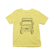 Penelope truck line print kids t-shirts - Make It Print - Penelope the Truck