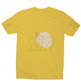 "Body line drawing """""" men's t-shirt - Make It Print - Annie Mason"