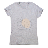 "Body line drawing """""" women's t-shirt - Make It Print - Annie Mason"