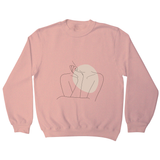 "Body line drawing """""" sweatshirt - Make It Print - Annie Mason"