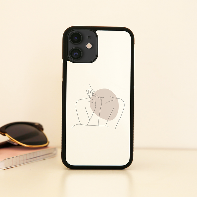 "Body line drawing """""" iPhone case - Make It Print - Annie Mason"