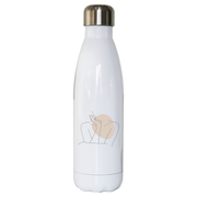 "Body line drawing """""" stainless steel water bottle - Make It Print - Annie Mason"
