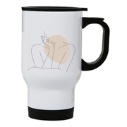 "Body line drawing """""" stainless steel travel mug - Make It Print - Annie Mason"