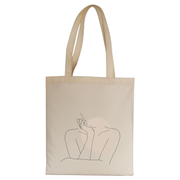 "Body line drawing """""" tote bag - Make It Print - Annie Mason"