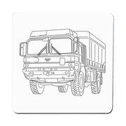 MAN truck coaster - Make It Print - Penelope the Truck