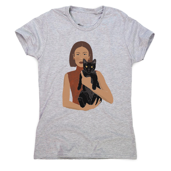 Girl and her Cat women's t-shirt - Make It Print - Monica Muhterem