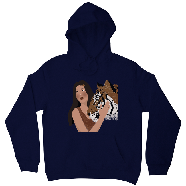 Girl and her Tiger hoodie - Make It Print - Monica Muhterem