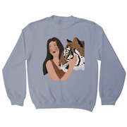 Girl and her Tiger sweatshirt - Make It Print - Monica Muhterem