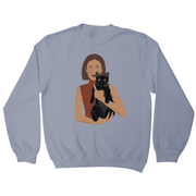 Girl and her Cat sweatshirt - Make It Print - Monica Muhterem