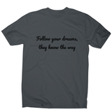 Follow your dreams men's t-shirt - Make It Print - Penelope the Truck