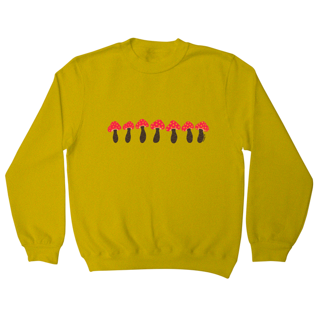 Pink mushrooms sweatshirt