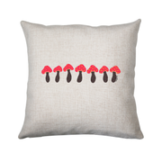 Pink mushrooms cushion