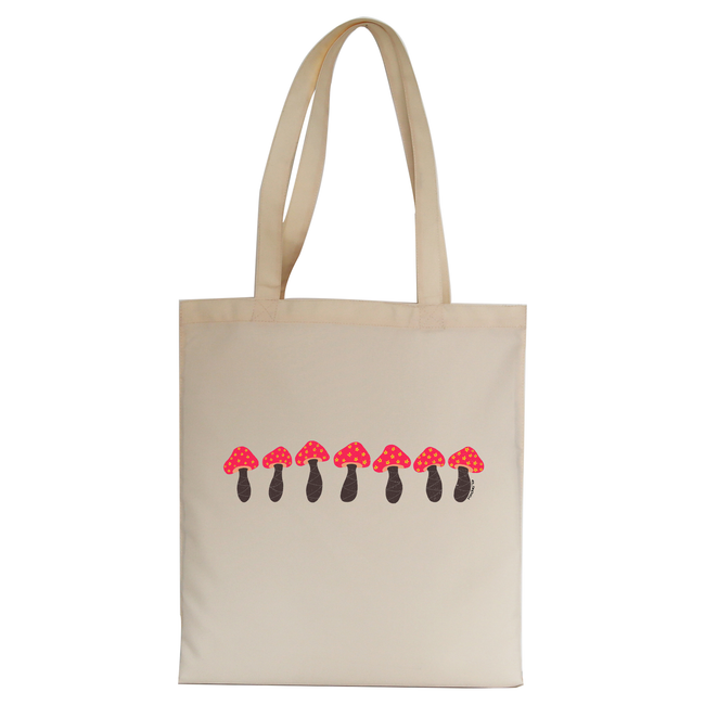 Pink mushrooms tote bag