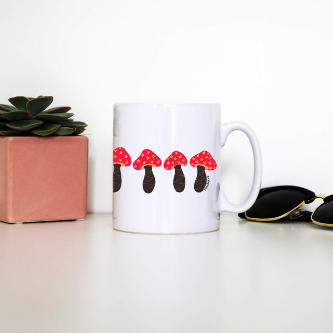 Pink mushrooms mug