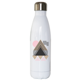 Abstract Geometric stainless steel water bottle - Make It Print - Maria Lourdes Calica
