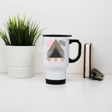 Abstract Geometric stainless steel travel mug - Make It Print - Maria Lourdes Calica