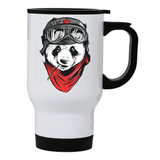Cool panda stainless steel travel mug - Make It Print