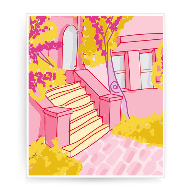 Casa rosa print - Make It Print - Eugenia