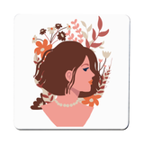 Blooming girl coaster Set of 2