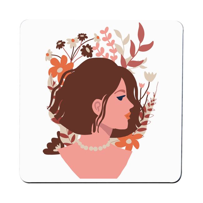 Blooming girl coaster Set of 4