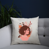 Blooming girl cushion 40x40cm Cover +Inner