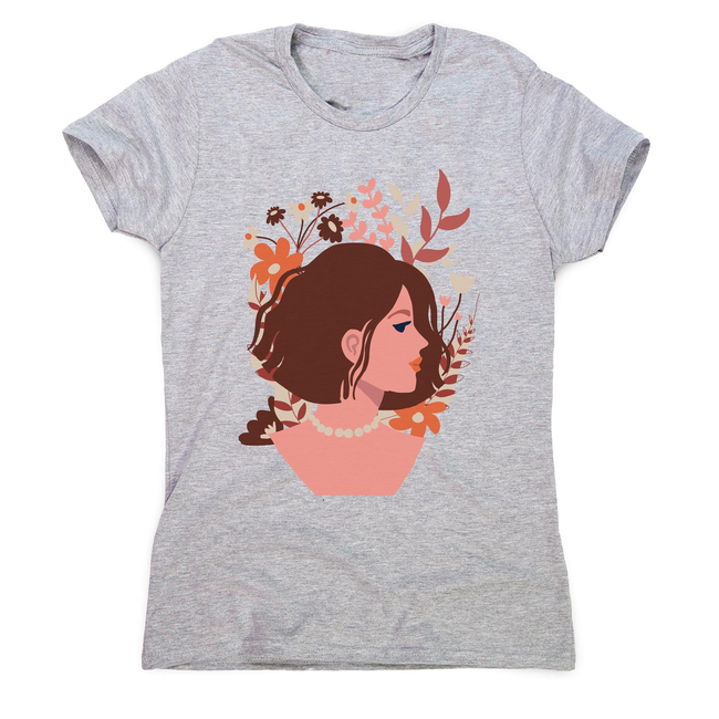 Blooming girl women's t-shirt Grey