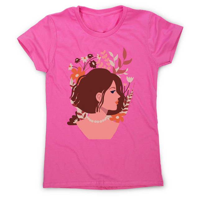 Blooming girl women's t-shirt Pink