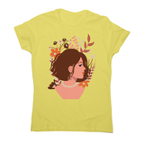 Blooming girl women's t-shirt Yellow