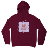 Do not worry about tomorrow hoodie Burgundy