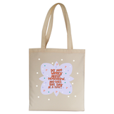 Do not worry about tomorrow tote bag Natural