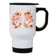 Don't forget to breathe stainless steel travel mug White